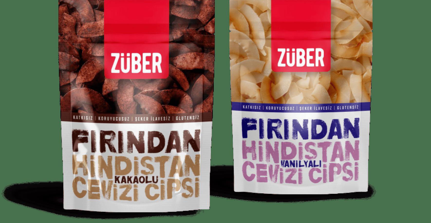 Züber Organik Hindistan Cevizi Cipsi| %100 Doğal, İlave Şekersiz