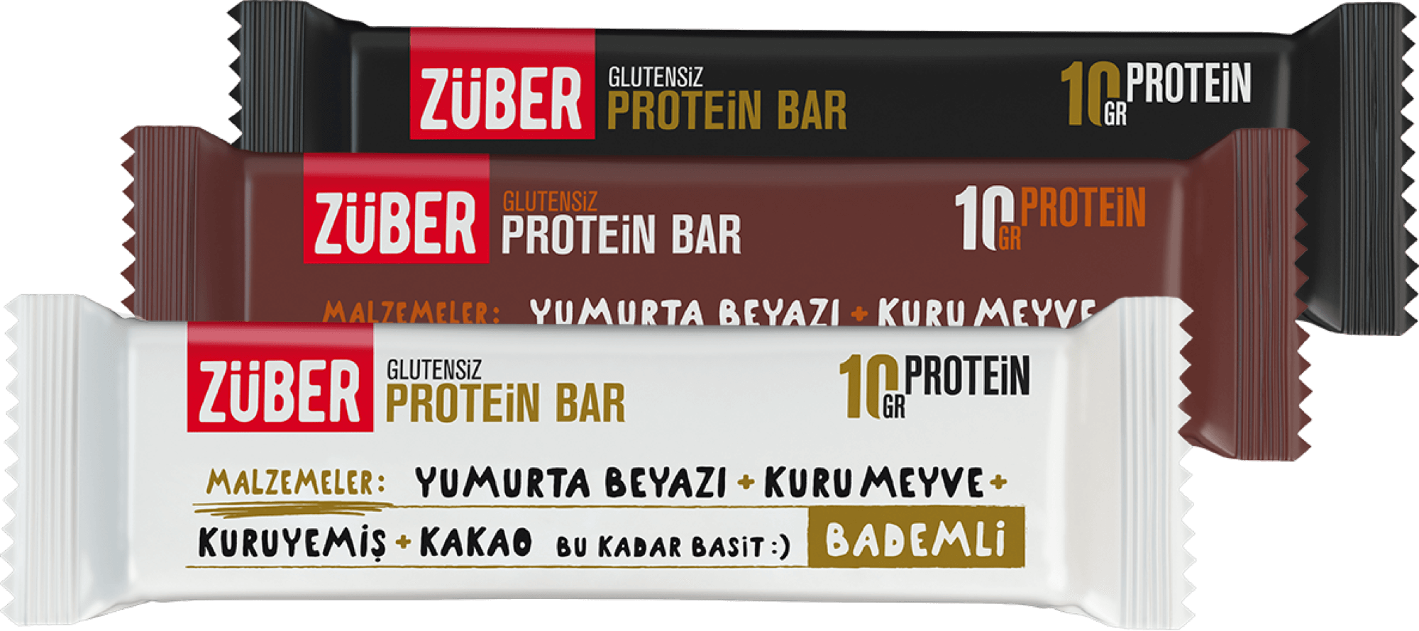 Züber Protein Bar glutensiz, doğal protein kaynağı
