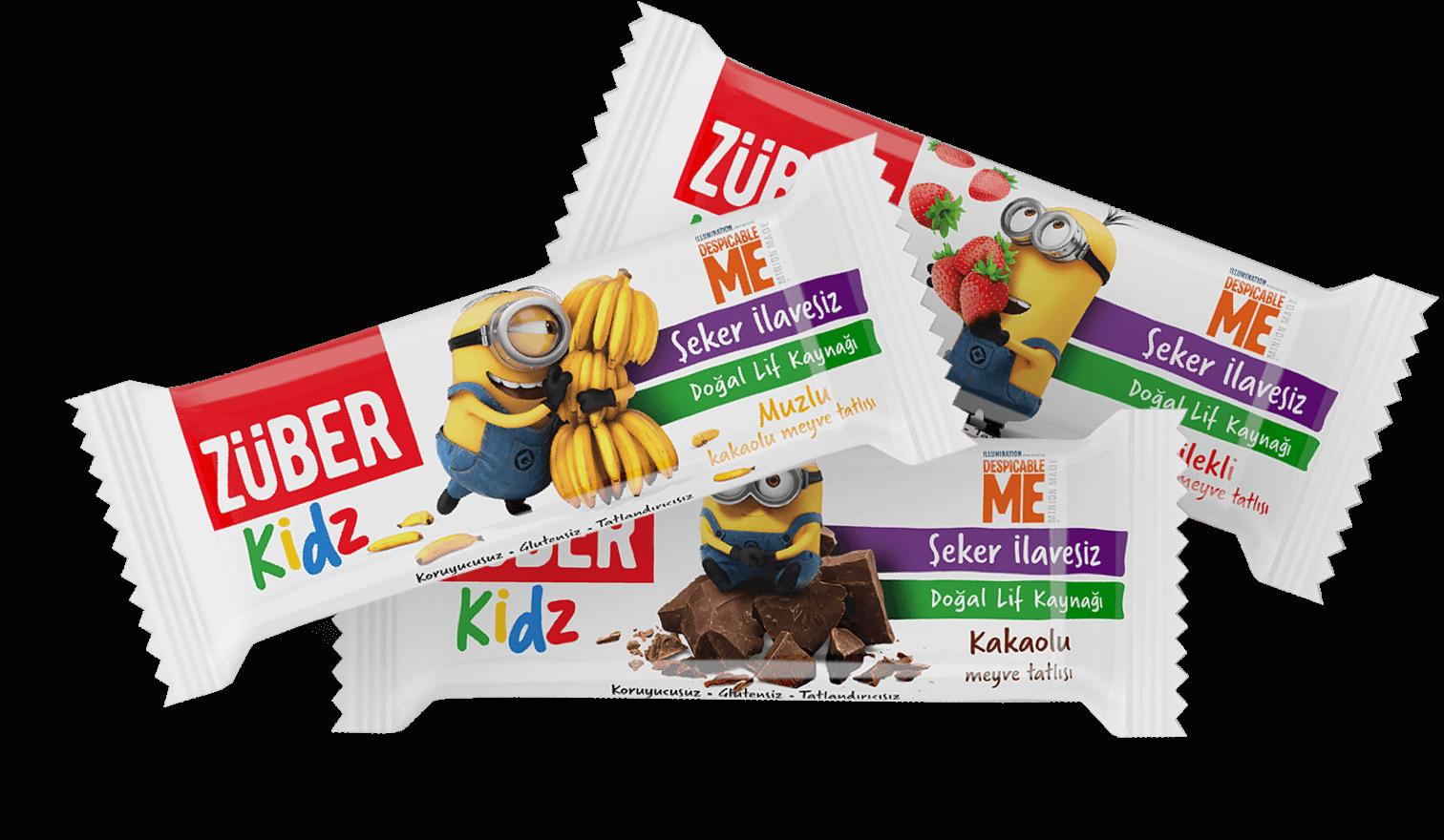 Züber Kidz çocuklar için atıştırmalığın en sağlıklı hali