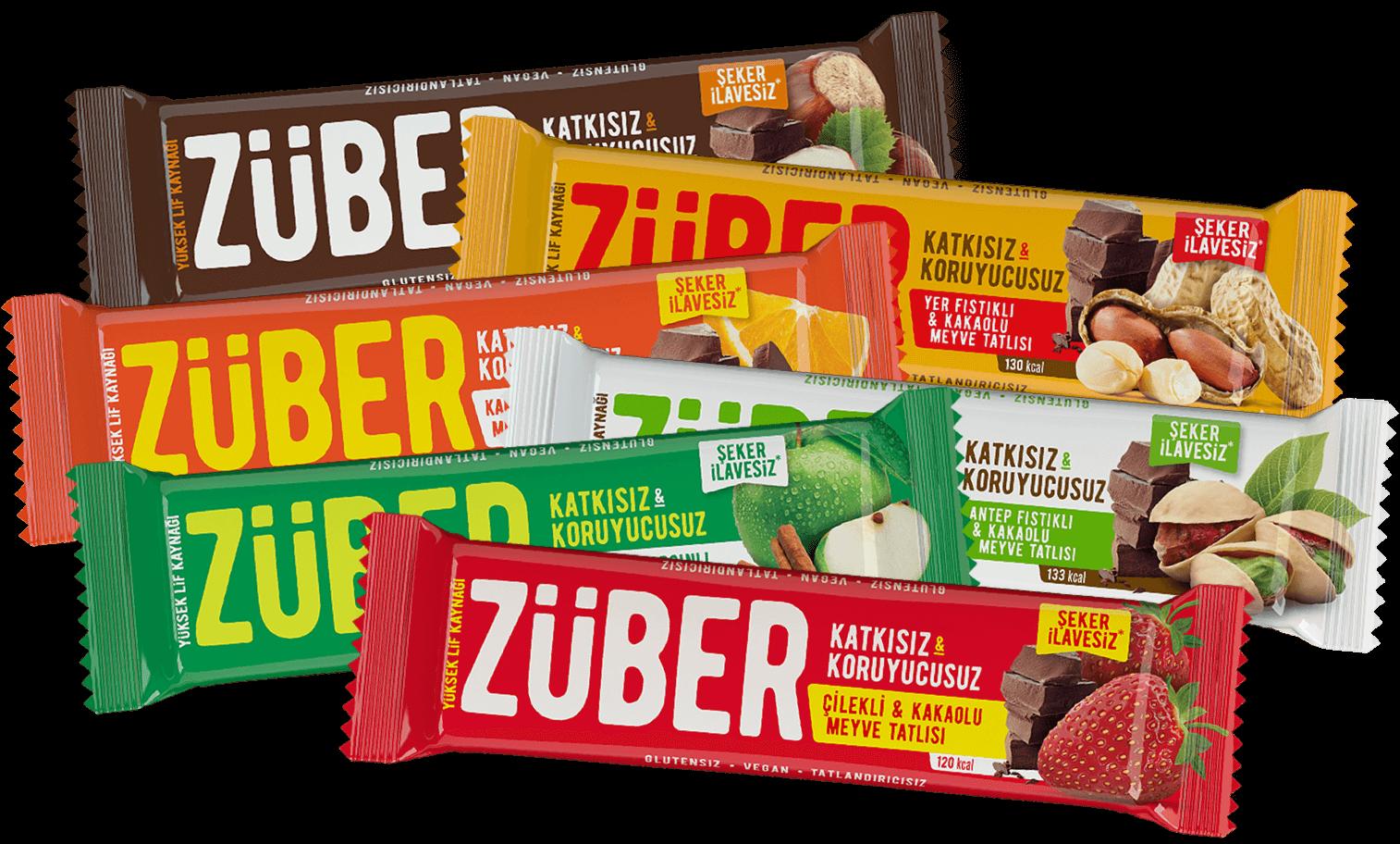 Züber Meyveli Bar %100 Doğal Sağlıklı Atıştırmalık