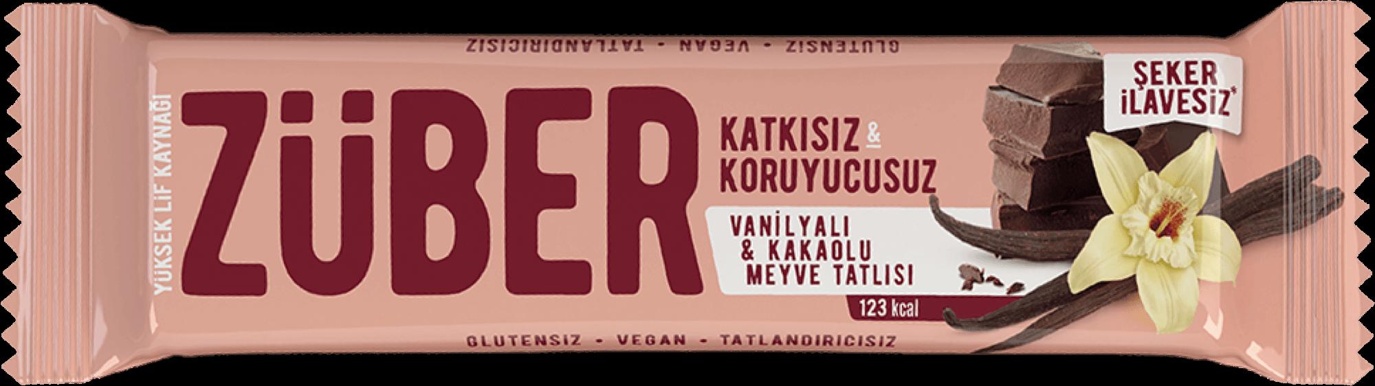 Vanilyalı & Kakaolu Meyveli Bar, 40g